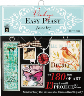Vintage Easy Peasy Jewellery Collage Book